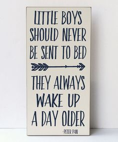Look at this Vinyl Crafts Cream & Navy 'Wake Up a Day Older' Wall Sign on #zulily today!