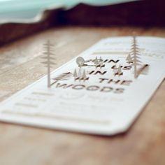 Wedding invitation with laser cut