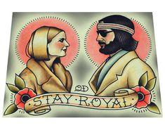Stay Royal Tattoo Art Print