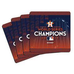 Houston Astros 2017 World Series Champions 4-Pack Neoprene Coaster Set - MLB #Boelter