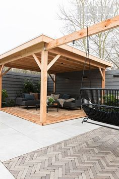 Backyard Seating, Backyard Patio Designs, Modern Backyard, Pergola Patio, Backyard Projects, Small Backyard Landscaping, Small Backyard Design, Outdoor Rooms, Outdoor Gardens