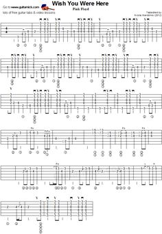Guitar TAB, tutorial and PDF of Wish You Were Here by Pink Floyd. Guitar cover with chords, solo and sheet music. Great Guitar Songs, Guitar Tabs Songs, Music Theory Guitar, Ukulele Chords Songs, Music Tabs, Guitar Sheet Music, Jazz Guitar, Blues Guitar Lessons, Basic Guitar Lessons