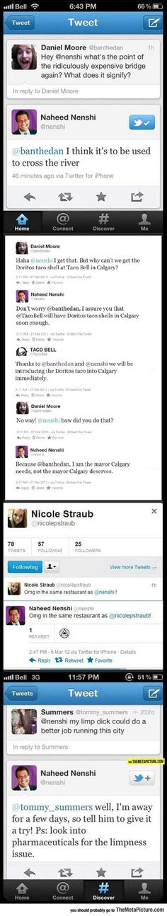 The Mayor Of Calgary, Alberta Is Pretty Awesome