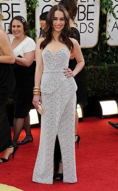 Emilia Clarke in Proenza Schouler @ Golden Globes 2014