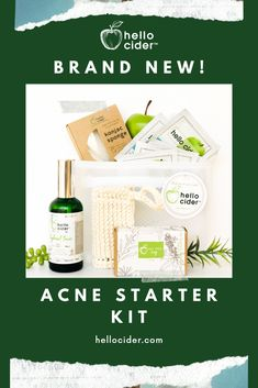 ACV & Acne Benefits- Apple Cider Vinegar can help fight acne with its antibacterial properties and by helping remove dead skin cells. Try our brand new ACV Acne Starter Kit and take off using code (through Acv For Acne, Acv For Skin, Vinegar For Acne, Acv Acne, Apple Cider Vinegar For Skin, Apple Cider Vinegar Benefits, Tea Tree And Witch Hazel, Homemade Toner, Tea Tree Soap