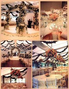 tent wedding decor, floor