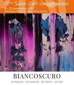 Gaya abstract work Whispers in Montreux Art during a remarkable contemporary art fair in November 2017 with the Biancoscuro exhibition space.