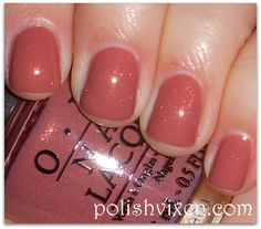 Great polish to wear when you're being photographed. (Think weddings, work events, etc.) Pretty color without taking away from the overall picture. Try it: GOUDA GOUDA TWO SHOES from OPI Holland Collection.