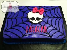 Easy Monster High Cake Ideas Spider webbing