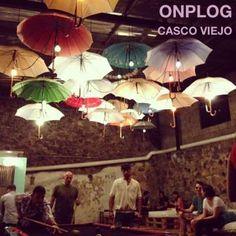 Mystical umbrellas at Onplog in Casco Viejo, Panama.