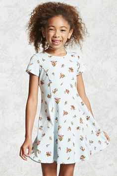 Product Name:Girls Floral Print Dress (Kids), Category:GIRLS_Dresses, Price:12.9