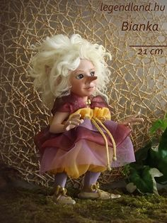 Elf white hair BJD doll. Art doll, ooak. Full body porcelain ball jointed doll by LegendLand Dolls