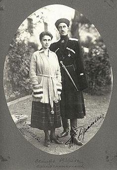 Russian White Army General Pyotr Wrangel and wife Olga Michailovna _BM