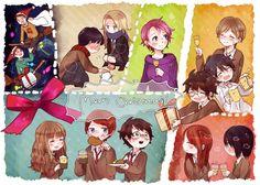 navidad harry potter anime - Buscar con Google