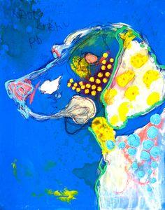 NaotoKitamura Dachshund, Abstract Embroidery, Nature Sketch, Abstract Animals, Colorful Animals, Japanese Artists, Dog Art, Art Studios, Pattern Art
