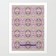Floral Stained Glass Art Print by Katie Wohl | Society6