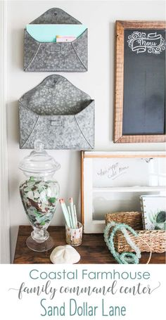 Coastal Farmhouse Command Center - Sand Dollar Lane coastal farmhouse command center Always aspired to discover ways to knit, nonetheless not certain the place to begin? Farmhouse Bedroom Furniture, Farmhouse Table Decor, Coastal Farmhouse, Coastal Cottage, Coastal Style, Coastal Decor, Modern Coastal, Farmhouse Style, Farmhouse Office