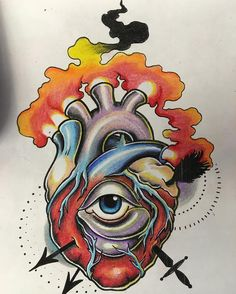 Can't wait to do this ! #anatomicalheart #tattoo #hearttattoo #heart #flame #arrow #sword #color #neotraditional #neotraditionaltattoo #tattooart #tattoodesign #tattooflash #tattoolife #bodyandsouljc #bodyartsouljc #nyctattoo #nytattoo #njtattoo #newjersey #art #draw #sketch #jerseycity #jerseycitynj