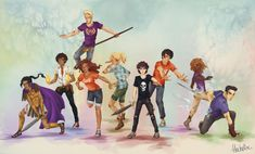 Heroes of Olympus Squad by FlockeInc.deviantart.com on @DeviantArt