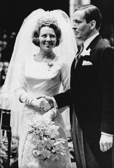 The wedding of Princess Beatrix, later Queen Beatrix of the Netherlands and Claus van Amsberg in Amsterdam, 10th March 1966