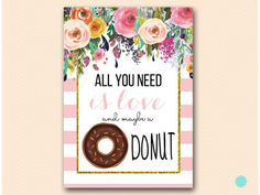 BS532-donut sign all you need is love and donut