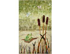 Froggy Art Quilt Fiber Art Quilt Original Wall Hanging | Etsy