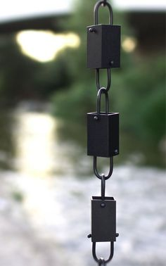 Square Link™ Rain Chain (Black) $50 free shipping