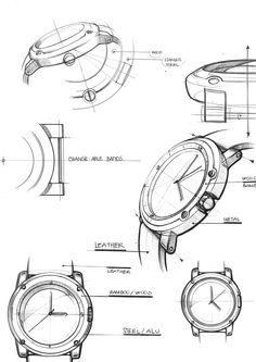 Customizable Watch Design on Behance plusieurs points de vue, profil, haut, bas, trois quart...