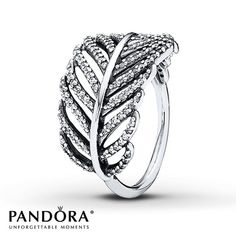 PANDORA Light As A Feather ring in sterling silver with 138 micro pave-set, clear cubic zirconias. In dreams, feathers represent travel and freedom. * PANDORA offers European even number ring sizing. If your finger measures between ring sizes we recomm Pandora Charms, Rings Pandora, Pandora Bracelets, Pandora Jewelry, Jewelry Rings, Pandora Outlet, Craft Jewelry, Watches