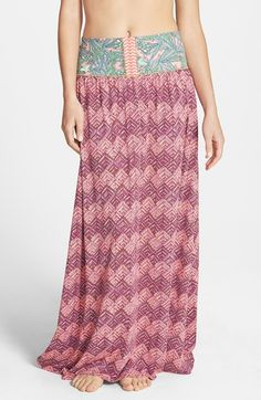 Maaji 'Susie Patootie' Print Maxi Skirt available at #Nordstrom