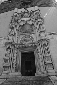 Ancona, Marche, Italy -Church of San Francesco alle Scale, portal- by Gianni Del…