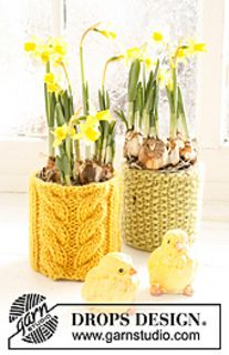 Ravelry: 0-771 flowerpot Easter decoration pattern by DROPS design