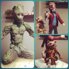 Guardians of the Galaxy sugar figures