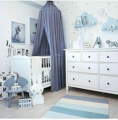 Cloud shelves - - babyzimmer ideen - Baby World Baby Boy Room Decor, Baby Room Design, Boy Decor, Baby Bedroom, Baby Boy Rooms, Baby Boy Nurseries, Nursery Room, Girl Room, Baby Boys
