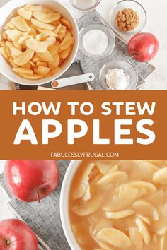 Lean how to stew apples perfectly to your liking. Great as a side dish or as a delicious vanilla ice cream topping! Fruit Recipes, Apple Recipes, Snack Recipes, Cooking Recipes, Apple Desserts, Snacks, Desert Recipes, Stewed Apples Recipe