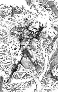 Magneto - by Philip Tan__Magnificent. The detail is impressive. And it is amazing how Tan accentuates Magneto's sheer power with just an outstretched hand and lots of tiny, floating scraps of metal.