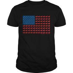 Patriotic dachshund dog american flag  mens tshirt