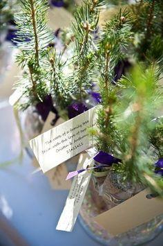 Evergreen wedding favors elizabeth davis photography