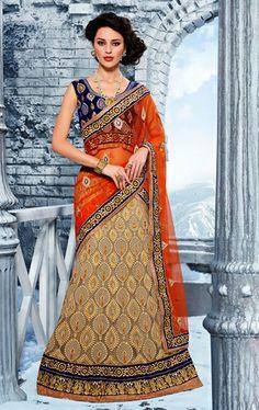 Picture of Tranquil Beige Color Designer Lehenga Choli