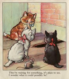 Illustration from a vintage children's book