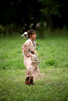 Young Native American Dancer by Lloyd Record, via Flickr