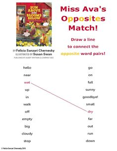 Here's an opposites activity sheet I've created for spring Sun Above and Blooms Below visits. Enjoy!