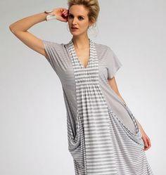 Vogue - 8813 patroon wijde jurk met smock | Schnittmuster-online.com | nähen und schnitte online