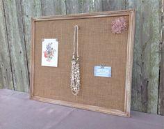 Bulletin board  shabby chic decor  framed cork by YouMatterDesigns