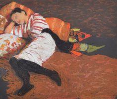 "huariqueje:  ""  Slumber - Judy Drew , 2003  Australian, b. 1951-  pastel on paper , 28 x 34 cm  """