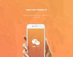 """Check out my @Behance project: """"VIME Chat App"""" https://www.behance.net/gallery/40799285/VIME-Chat-App"""