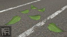 Large preview of 3D Model of Leaves