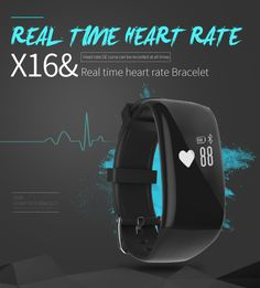 BEST Heart Rate Monitor Smart Band bracelet X16 Bluetooth 4.0 IP67 Waterproof Activity Tracker Wristband for IOS&Android phone