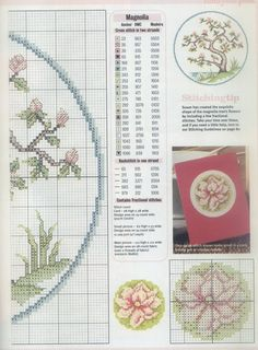 Borduurpatroon Bloem- Plant- Dier *Cross Stitch Flower- Plant- Animal ~Japanse Bloesemboom 2/2~