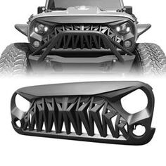Red Front Grab Handles for Jeep Wrangler JK Jeep Wrangler Upgrades, Jeep Wrangler Grill, Jeep Jk, Jeep Truck, Wrangler Jk, Jeep Wrangler Unlimited, Ford Trucks, Jeep Garage, Accessoires 4x4